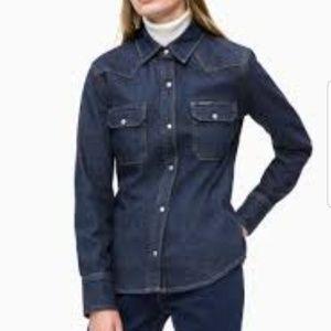 Calvin Klein western lean shirt
